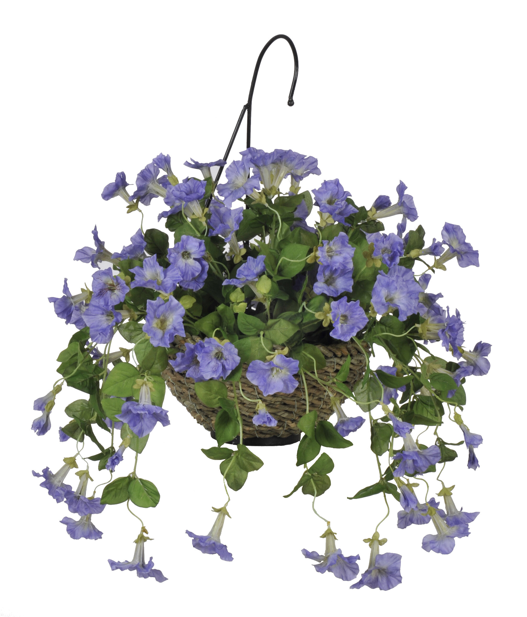 House Of Silk Flowers Artificial Petunia Hanging Plant In Basket