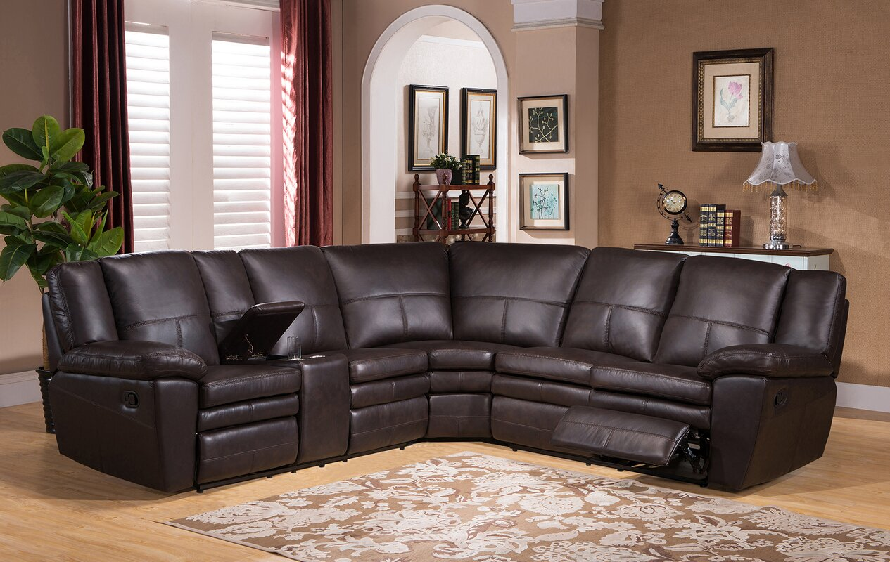 Oregon Leather Reclining Sectional : leather reclining sectionals - Sectionals, Sofas & Couches