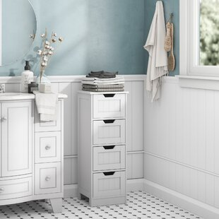Tall White Wood Bathroom Cabinet
