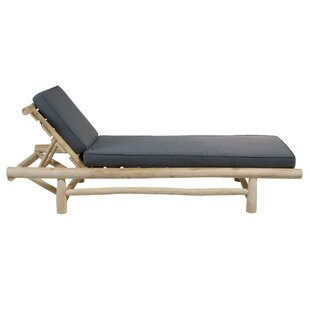 Rowland Sun Lounger With Cushion By Bay Isle Home