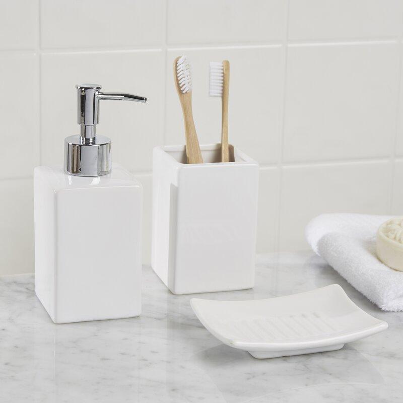 osseo 3 piece bathroom accessory set - Bathroom Accessories Set