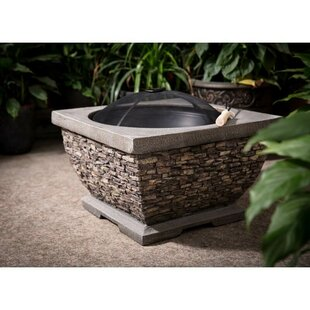 Premium Brick Resin Wood Burning Fire Pit By Sol 72 Outdoor