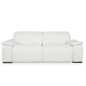 Atilla Top Grain Motorized Sofa by Orren Ellis