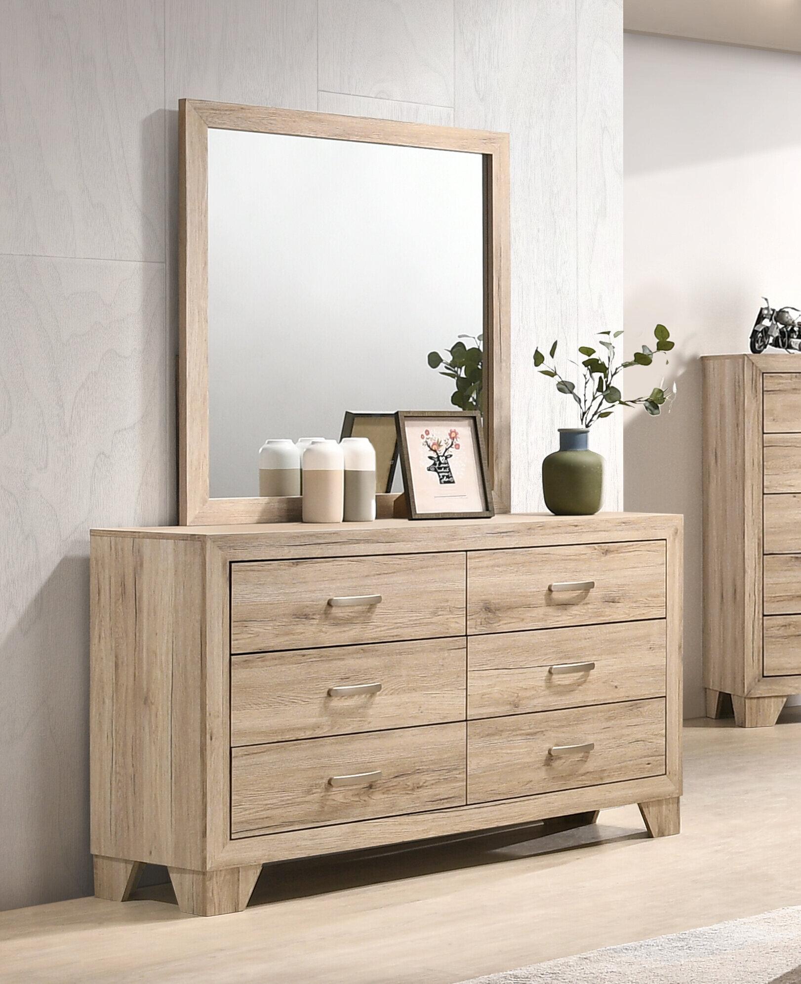 Millwood Pines Jaziel 6 Drawer Double Dresser With Mirror Reviews Wayfair
