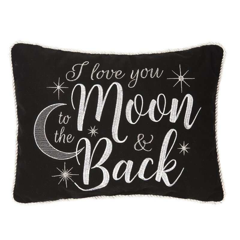 Winston Porter Dagoberto To The Moon Back Cotton Lumber Pillow Wayfair