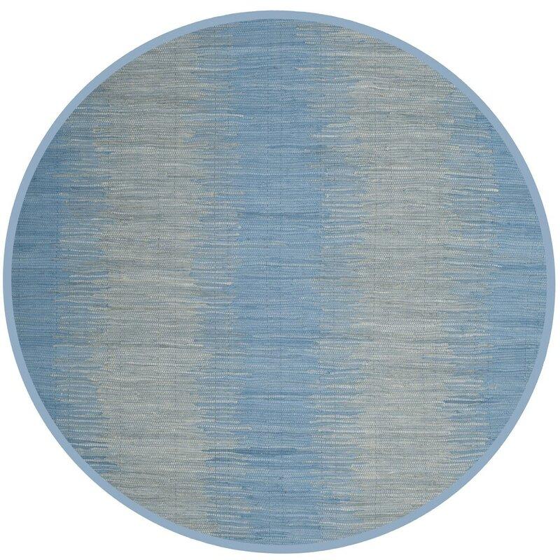 Highland Dunes Cayman Hand-Woven Blue/Gray Area Rug
