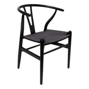 Villa Court Wishbone Solid Wood Dining Chair (Set of 2)