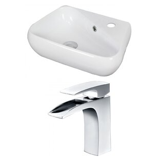 Specialty Ceramic Specialty Vessel Bathroom Sink with Faucet and Overflow ByAmerican Imaginations