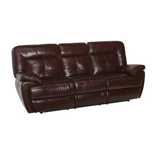 Duffett Leather Reclining Sofa