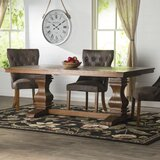 Derwent Poplar Solid Wood Extendable Dining Table by Three Posts™