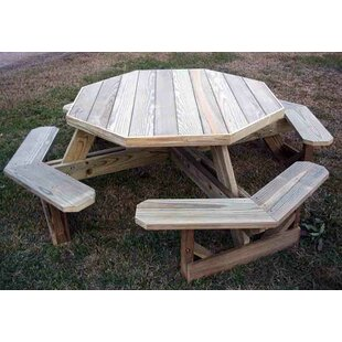 Arturo Solid Wood Picnic Table by Freeport Park