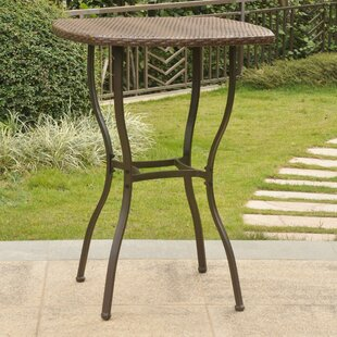 Order Polly Resin Wicker Bistro Table ByThree Posts