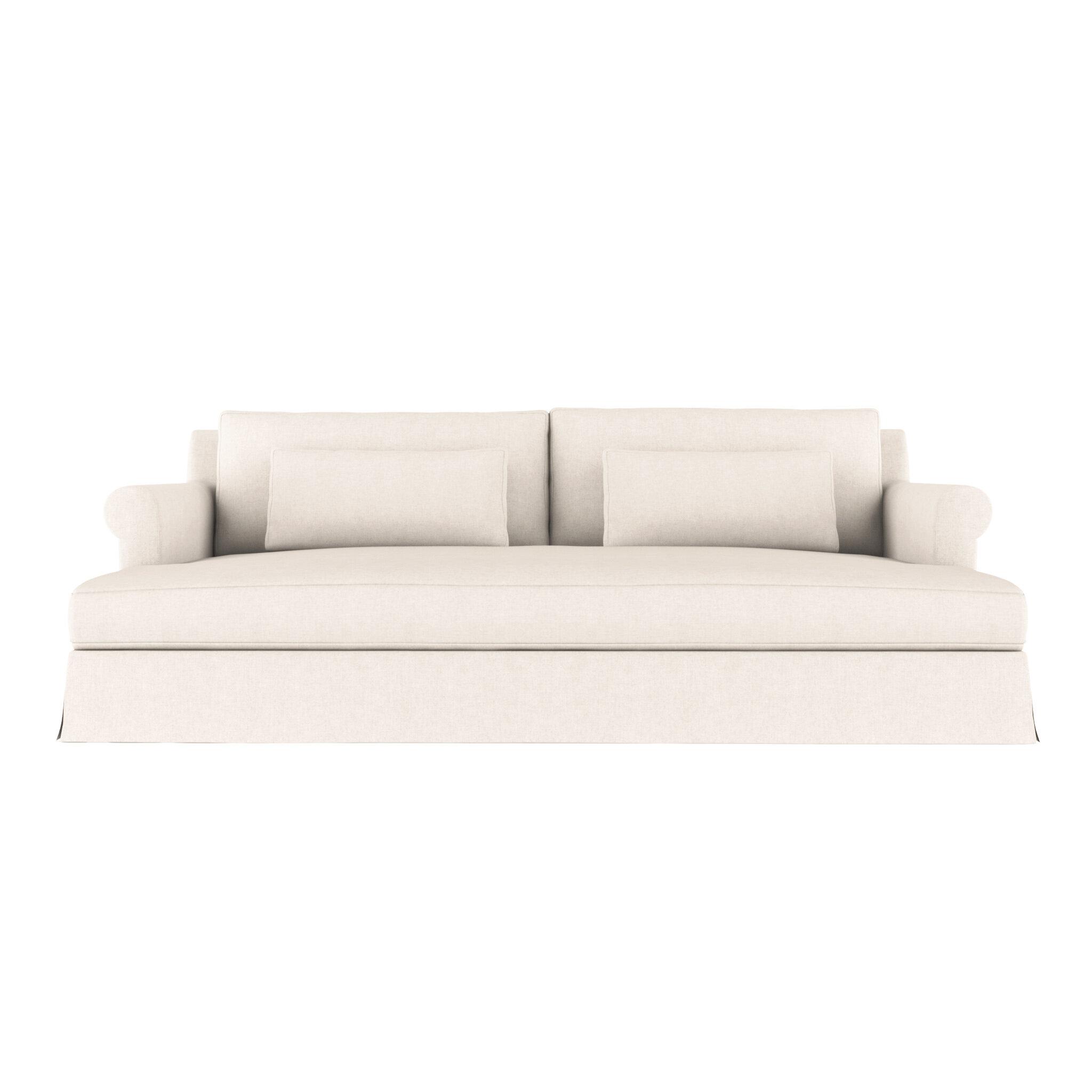 Tan Leather Sleeper Sofa Baci Living Room
