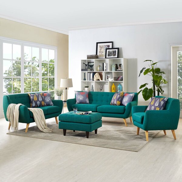Cool Modern Contemporary Teal Living Room Furniture Allmodern Download Free Architecture Designs Xaembritishbridgeorg