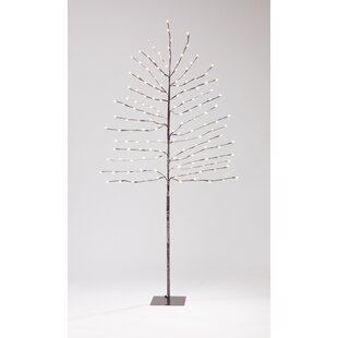220 Warm White Flocked Berry Tree Lighted Trees & Branches Image