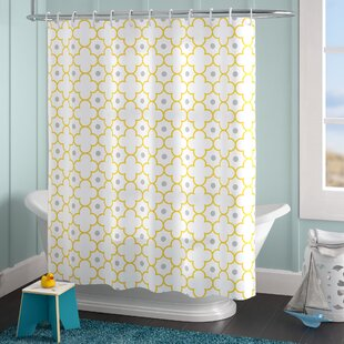 Donte Quatrefoil Moroccan Lattice Pattern Dots Single Shower Curtain