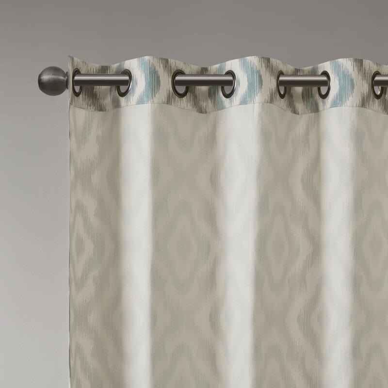 Orlowski Ikat Semi Sheer Grommet Single Curtain Panel