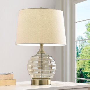Edina Glass Wavy Sphere 22.5 Table Lamp