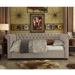 Dolson Twin Size Tufted Daybed by Rosdorf Park