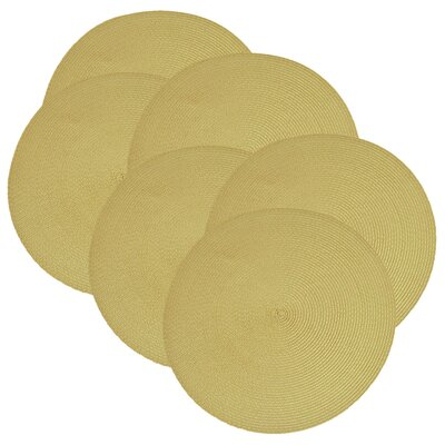 Birch Lane™ Heritage Round Braided Placemats Color: Snapdragon