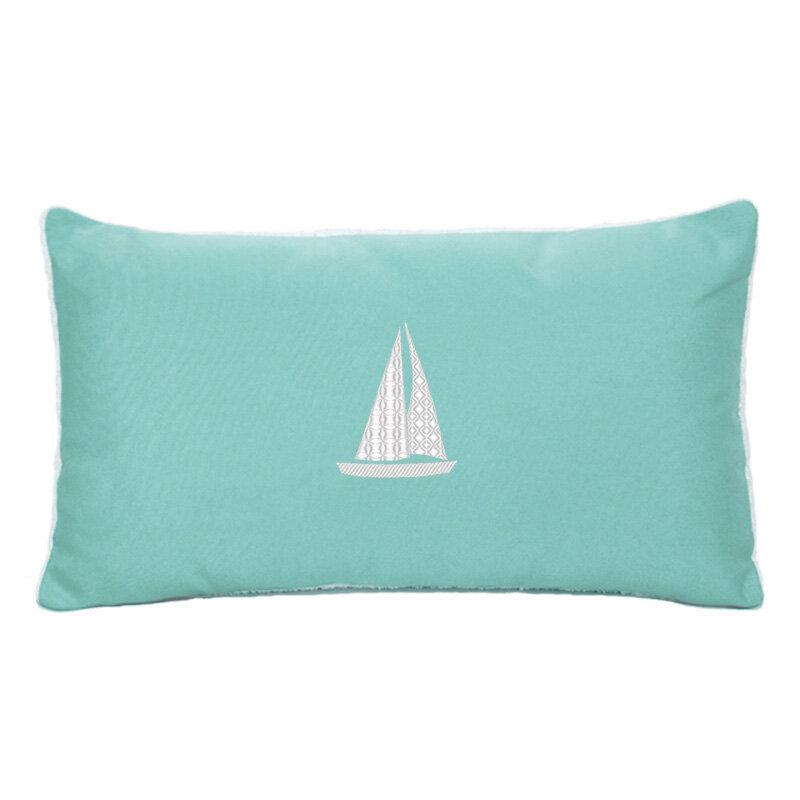 Hampden Sailboat Indoor/Outdoor Sunbrella Throw Pillow U0026 Reviews | Birch  Lane