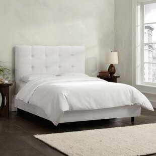 Double Button Tufted Upholstered Panel Bed by Skyline Furniture