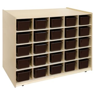 Affordable Island Double Sided 25 Compartment Cubby with Trays ByWood Designs