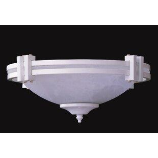 Compare 3-Light Bowl Ceiling Fan Light Kit By Red Barrel Studio