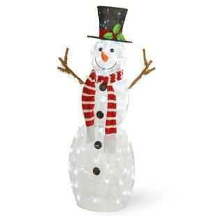 5ft Lighted Snowman Wayfair
