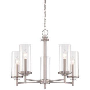 Designers Fountain Harlowe 5-Light Shaded Chandelier