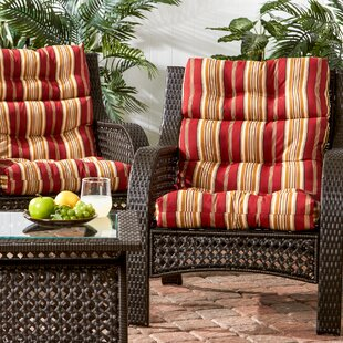 Peery High Back Indoor/Outdoor Lounge Chair Cushion (Set of 2)