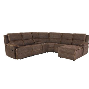 Shop For Charlita Reclining Sectional by Ebern Designs Reviews (2019) & Buyer's Guide