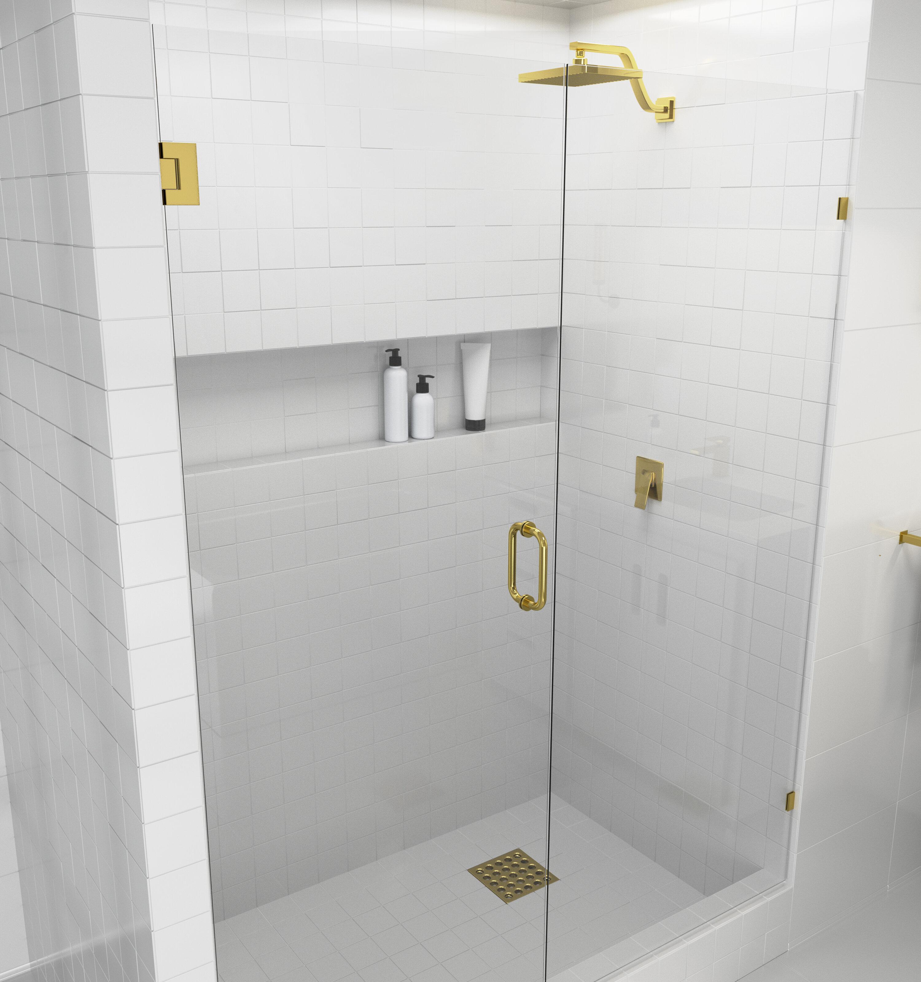 62 X 78 Hinged Frameless Shower Door