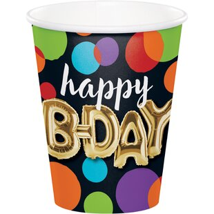 Balloon Birthday Paper Disposable Cup (Set of 24)