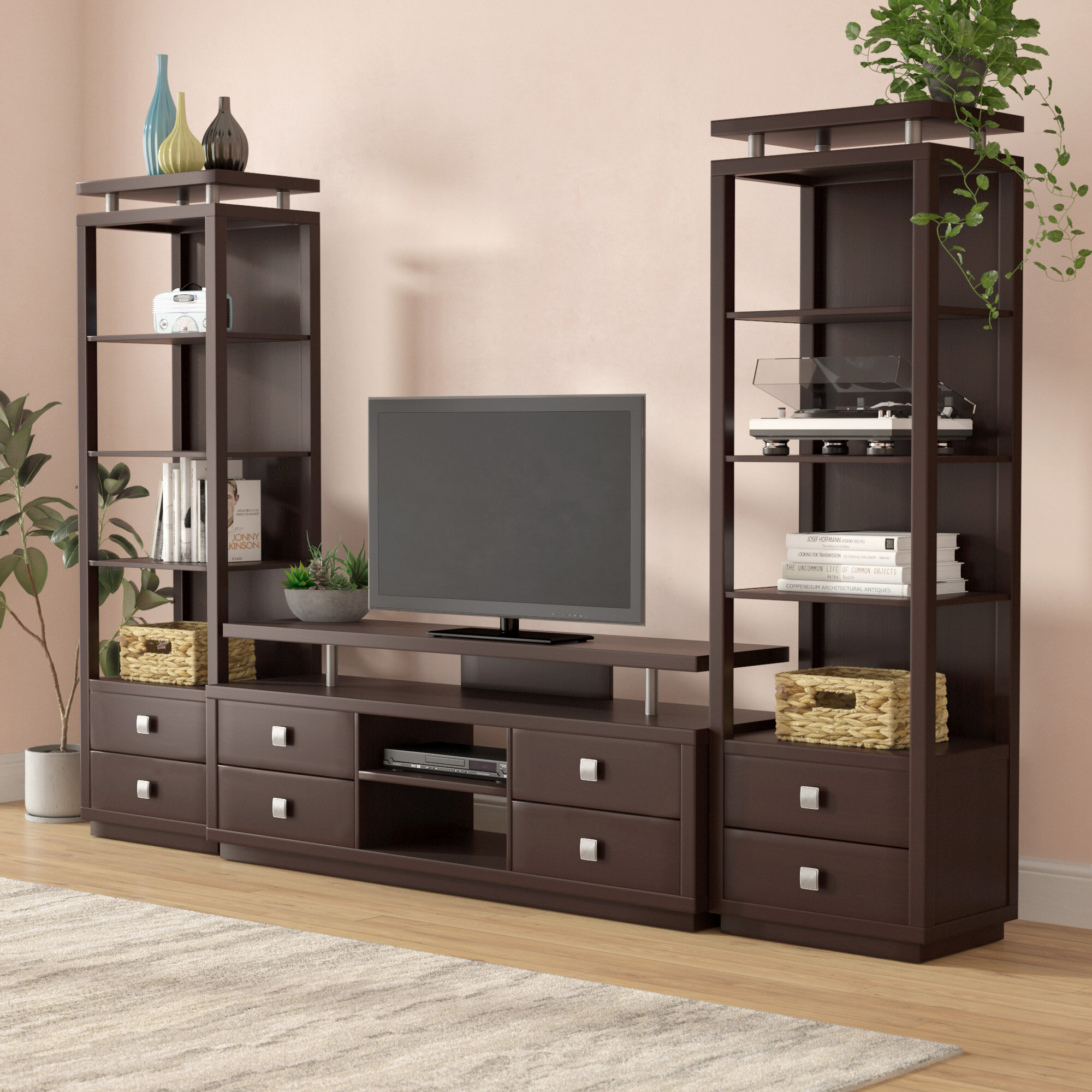 Latitude Run Vecchio Entertainment Center For Tvs Up To 60 Wayfair