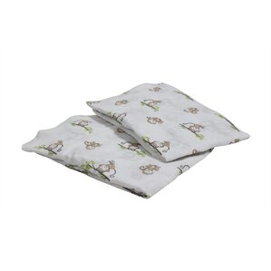 happy monkeys fitted crib sheets set of 2