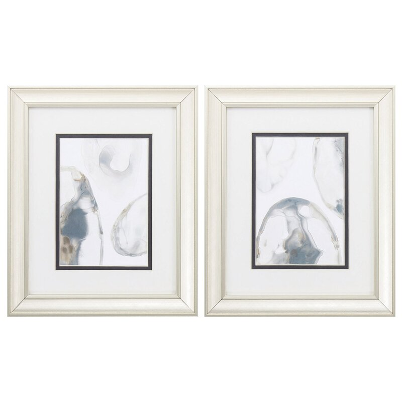 House Of Hampton Natural Geode 2 Piece Picture Frame Graphic Art Print Set On Paper Wayfair