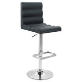 Caolan Adjustable Height Swivel Bar Stool (Set of 2) by Orren Ellis