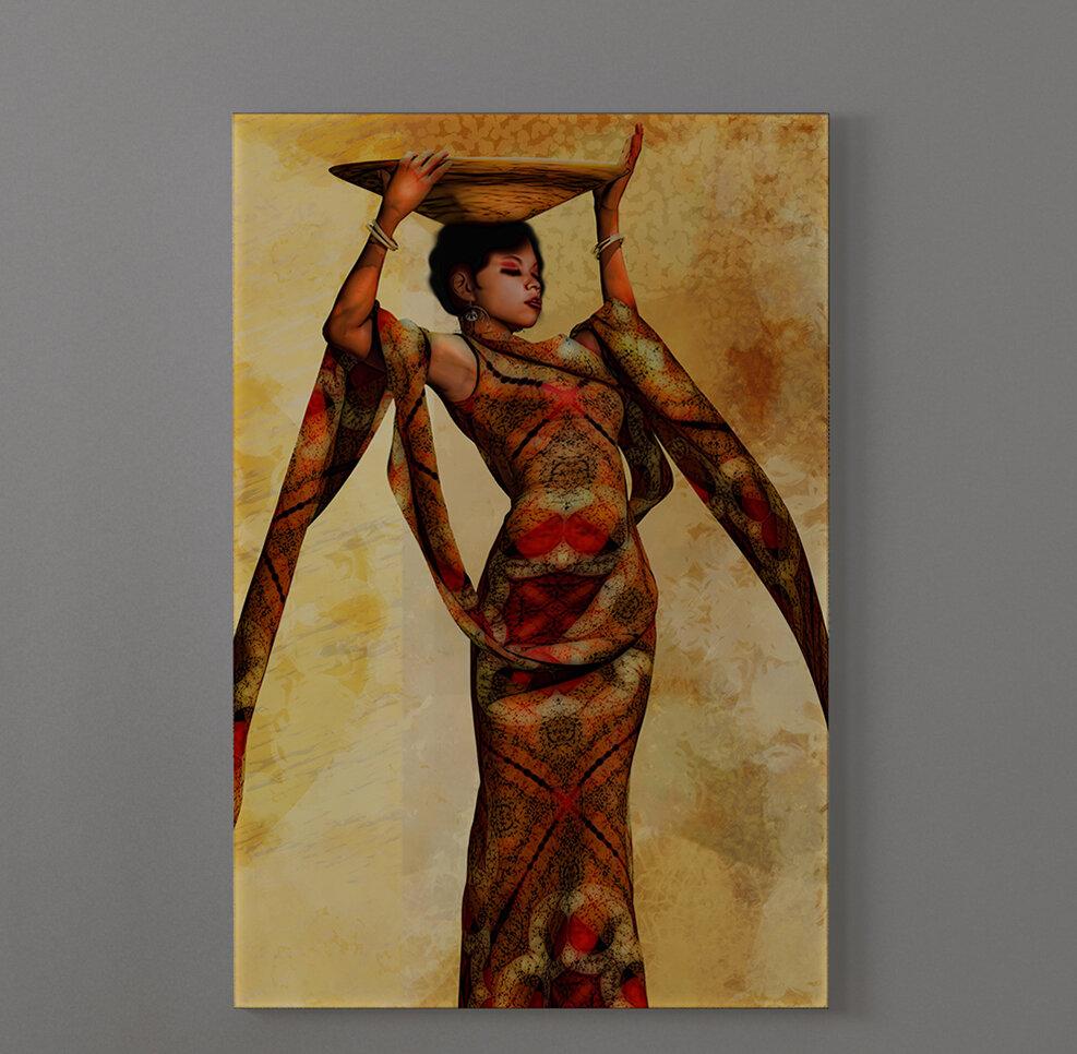 World Menagerie Ebony Tribal 2 African American Graphic Art Print On Canvas Wayfair