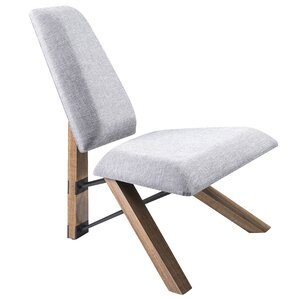 Hahn Slipper Chair in Light Grey Fabric by Adesso
