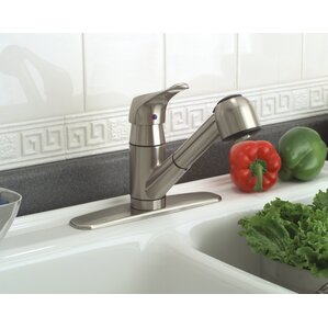 Premier Faucet Sonoma Single Handle Deck Mounted Kitchen Faucet with Optional Deck Plate