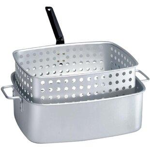 Rectangular Fry Pan and Basket