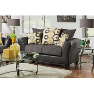 Wallie Dempsey Graphite Loveseat by Latitude Run