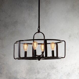 Brayden Studio Gibby 4-Light Geometric Chandelier