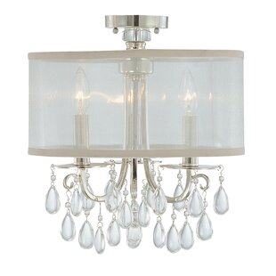 Willa Arlo Interiors Aayush Contemporary 3-Light Semi Flush Mount