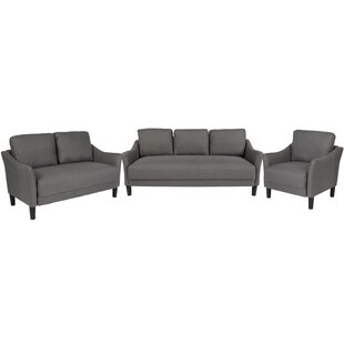 Mitesh Upholstered 3 Piece Living Room Set by Winston Porter