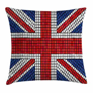 Union Jack Mosaic British Flag Square Pillow Cover