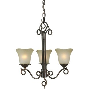 Charlton Home Cordia 3-Light Shaded Chandelier