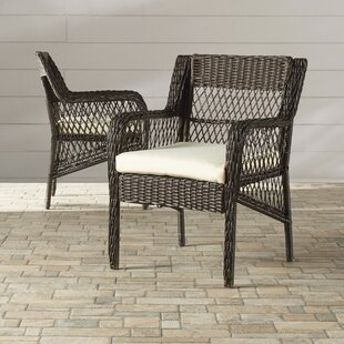 Benedetto Patio Dining Chair with Cushion (Set of 2)