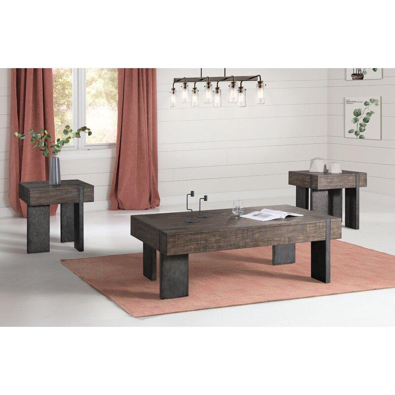 Loon Peak Kraus 3 Piece Coffee Table Set Wayfair